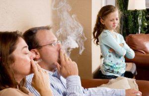 Не курить при детях