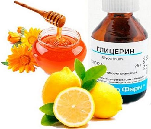 Лимон с глицерином от кашля