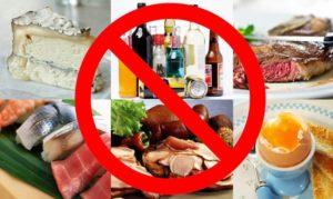 Запрещенные продукты при аллергии
