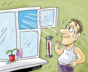 Контролировать температуру и влажность в помещении