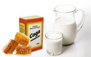 сода с молоком и медом