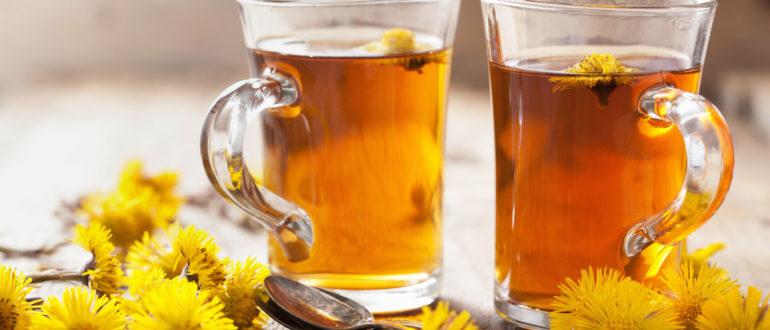 отхаркивающий чай с мать-и-мачехой
