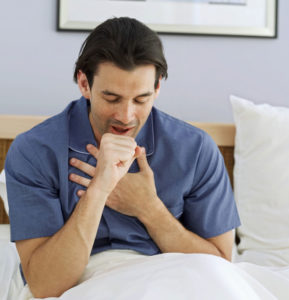 сухой кашель утром